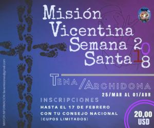 Misión Vicentina de Semana Santa 2018