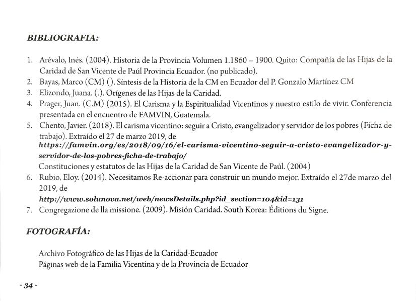 Llegada de las Hijas de Caridad y Congregación de la Misión a Ecuador